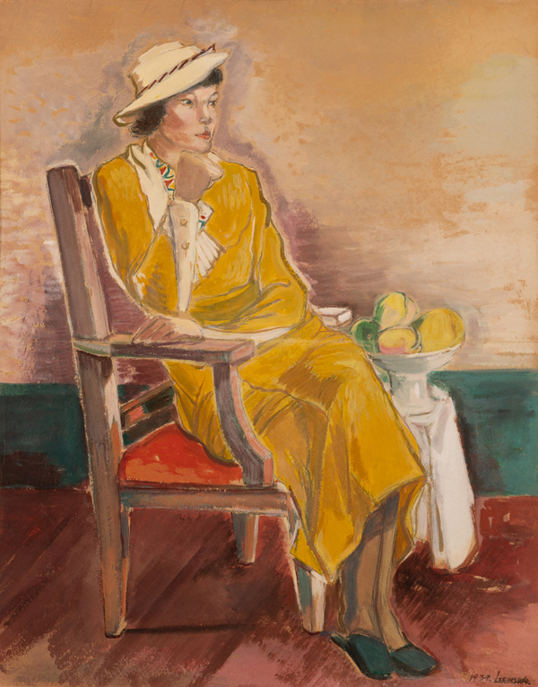 노란옷을 입은 여인상